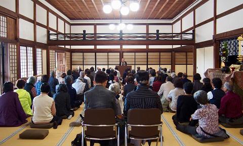 天龍寺宗務総長の田原義宣師の法話